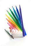 Regenbogen-Farbmarkierungen Stockfotografie