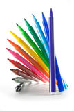Regenbogen-Farbmarkierungen Lizenzfreies Stockbild