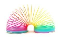 Regenbogen-Feder getrennt auf Weiß Lizenzfreies Stockbild
