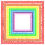 Regenbogen-Felder stockfoto