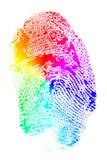 Regenbogen-Fingerabdruck Lizenzfreie Stockfotos