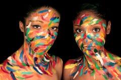 Regenbogen-Frauen Lizenzfreie Stockbilder
