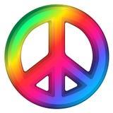 Regenbogen-Friedenszeichen Stockfotos