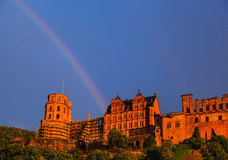Regenbogen in Heidelberg stockfotos