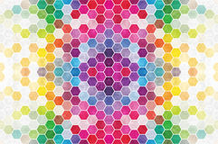 Regenbogen-Hexagon-Fliese stockbild