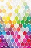 Regenbogen-Hexagon-Hintergrund Lizenzfreie Stockbilder