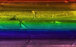 Regenbogen-Holz-Hintergrund Lizenzfreie Stockbilder