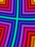 Regenbogen-Kreuz stock abbildung