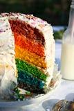 Regenbogen-Kuchen Lizenzfreie Stockbilder