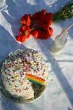 Regenbogen-Kuchen Lizenzfreies Stockbild
