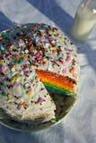 Regenbogen-Kuchen Lizenzfreie Stockfotografie