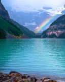 Regenbogen, Lake Louise Stockbilder