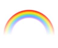 Regenbogen lokalisiert auf Weiß Auch im corel abgehobenen Betrag