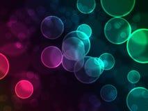 Regenbogen-Luftblasen Stockfotos