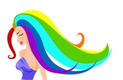 Regenbogen-Mädchen lizenzfreie abbildung
