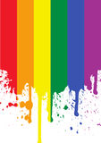 Regenbogen-Markierungsfahne Lizenzfreie Stockfotografie