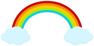 Regenbogen mit clounds Stockbild