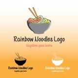 Regenbogen-Nudel-Logo Stockfotos