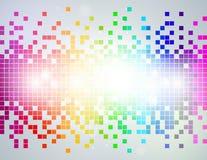 Regenbogen-Pixelzusammenfassung Hintergrund stock abbildung