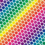 Regenbogen-Polka-Punkte lizenzfreie abbildung