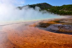 Regenbogen-Pool an Yellowstone Nationalpark lizenzfreies stockfoto