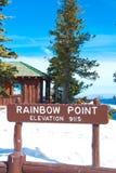 Regenbogen-Punkt-Zeichen Stockfoto