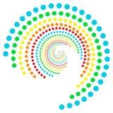 Regenbogen punktiert Spirale 2 Lizenzfreie Stockfotografie