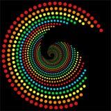 Regenbogen punktiert Spirale 2 stock abbildung