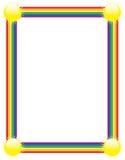 Regenbogen-Rand Stockfoto