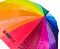 Regenbogen-Regenschirm Lizenzfreie Stockfotos