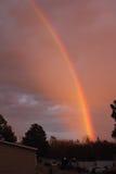 Regenbogen romise von besserem morgen Stockbild