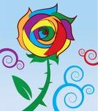 Regenbogen Rose stock abbildung