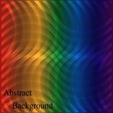 Regenbogen-schimmerndes gewelltes Neongitter Geometrischer abstrakter Hintergrund Stockfotos