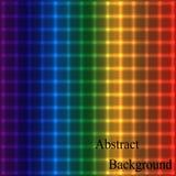Regenbogen-schimmerndes Neongitter Geometrischer abstrakter Hintergrund Stockfoto