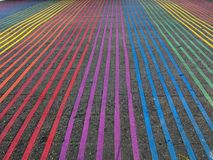 Regenbogen-Schnitt, Castro District, Kalifornien Stockbild