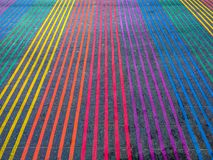 Regenbogen-Schnitt, Castro District, Kalifornien Stockfotografie