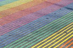 Regenbogen-Schnitt, Castro District, Kalifornien Lizenzfreies Stockfoto
