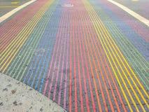 Regenbogen-Schnitt, Castro District, Kalifornien Lizenzfreie Stockbilder