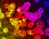Regenbogen-sechseckiger Hintergrund Lizenzfreies Stockfoto