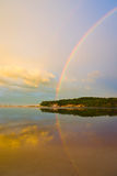 Regenbogen-Sonnenaufgang Stockbilder