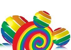 Regenbogen-Spielwaren lizenzfreie abbildung