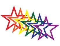 Regenbogen-Sterne Stockfoto