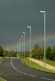 Regenbogen-Straße stockbild