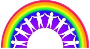 Regenbogen-Teamwork stock abbildung
