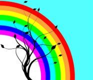 Regenbogen und Baum Lizenzfreie Stockbilder