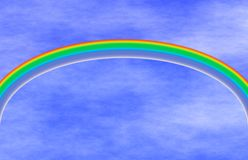 Regenbogen und blauer Himmel Stockfotografie