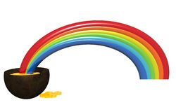 Regenbogen und Gold Lizenzfreie Stockfotos