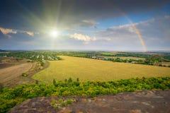 Regenbogen und sunlight1 Stockfotografie