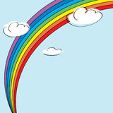 Regenbogen und Wolken Lizenzfreie Stockbilder