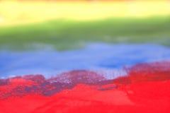 Regenbogen ungefähr gemalt mit Acryl Lizenzfreie Stockbilder